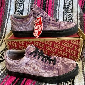 Vans Old Skool Velvet Sea Fog Purple Blk